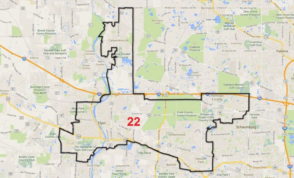 Map of 22nd District